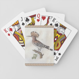 Hoopoe Antique Engraving Playing Cards