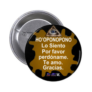 HOOPONOPONO CUSTOMIZABLE PRODUCTS PINBACK BUTTONS