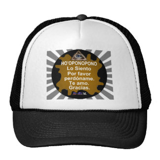 HOOPONOPONO CUSTOMIZABLE PRODUCTS TRUCKER HATS