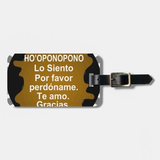 HOOPONOPONO CUSTOMIZABLE PRODUCTS BAG TAG