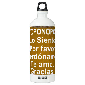 HOOPONOPONO CUSTOMIZABLE SIGG TRAVELER 1.0L WATER BOTTLE