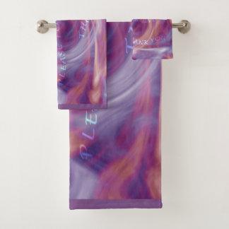 Ho'oponopono Purple Smoke Bath Towel Set