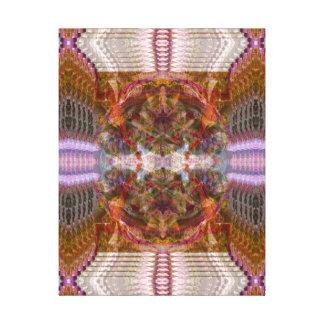 Ho'oponopono Yoga w/ Sacred Geomtry by Deprise Stretched Canvas Print