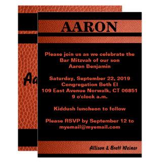 Hoops Bar Mitzvah Invitation