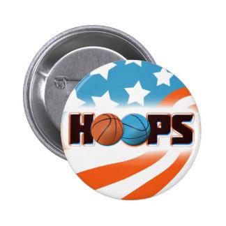 Hoops Basketball 6 Cm Round Badge