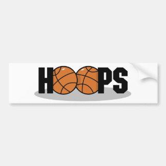 Hoops basketball bumper sticker