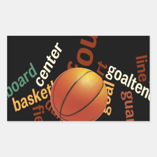 Hoops Basketball Sport Fanatics.jpg Rectangular Sticker