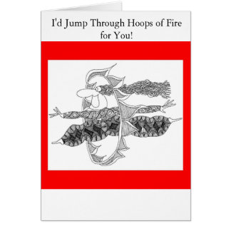 hoops of fire greeting cards