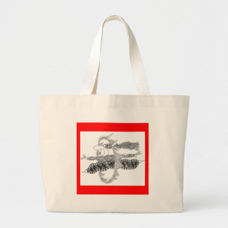 hoops of fire jumbo tote bag