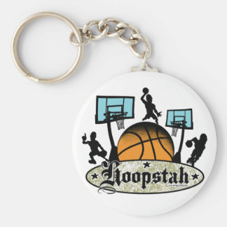 Hoopstah Color Logo Gear for Ballers Keychain