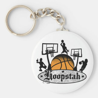 Hoopstah Logo Gear for Ballers and Hoopsters Keychain