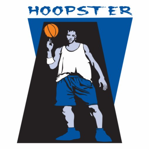 hoopster basketball vector design photo cut outs
