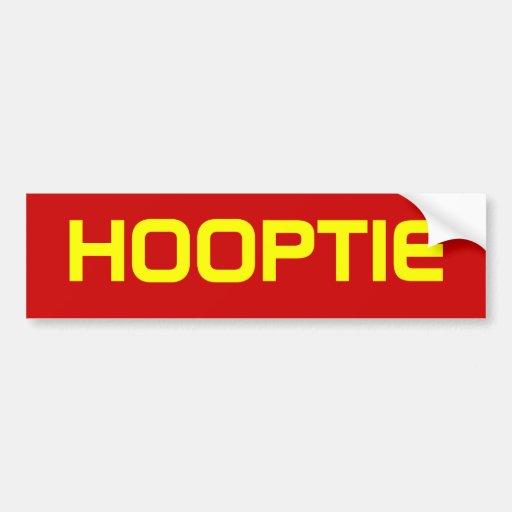 HOOPTIE BUMPER STICKERS