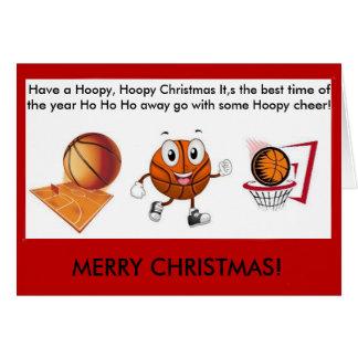Hoopy Hoopy Basketball christmas card