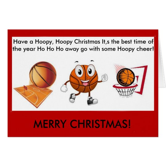 Hoopy Hoopy Basketball christmas card