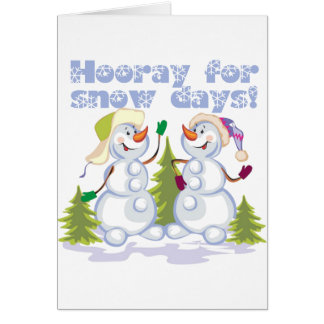 HOORAY For Snow Days! Cards