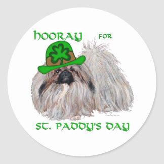 Hooray for St Paddys Day Round Sticker