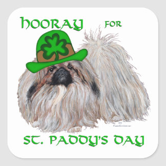 Hooray for St Paddys Day Square Sticker
