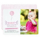 Hooray | Photo Birthday Party Invitation | Pink