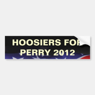 HOOSIERS for PERRY 2012 Campaign Bumper Sticker