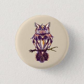 Hoot Autumn Brown Owl 3 Cm Round Badge