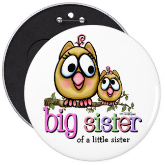 Hoot for Big Sister Buttons