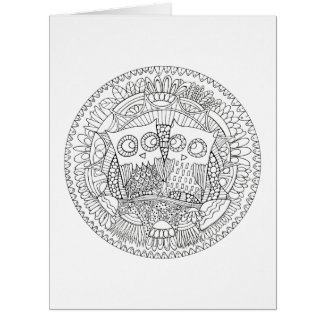 "Hoot Hollow Color It In Card, Big 8.5"" x 11"" Card"