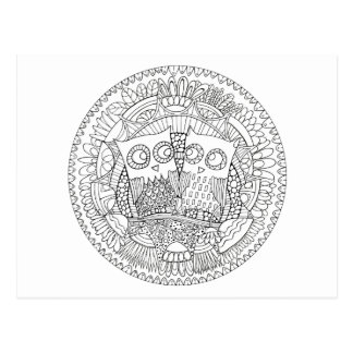 Hoot Hollow Color It In Postcard