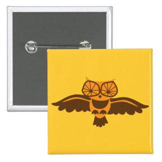 HOOT HOOT owl bird cute! 15 Cm Square Badge