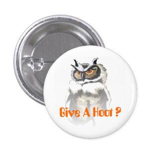 Hoot Owl 3 Cm Round Badge