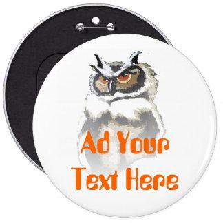 Hoot Owl 6 Cm Round Badge