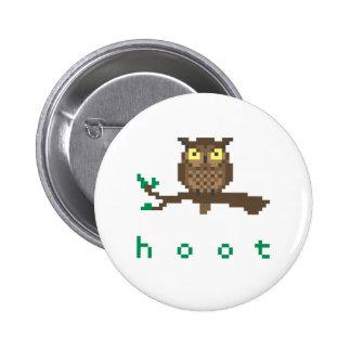 Hoot Owl Pixel Art Button