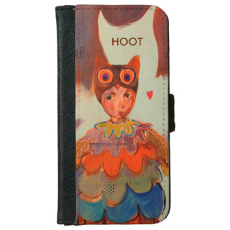 Hoot, wallet case designed by Kelly Primitives iPhone 6 Wallet Case