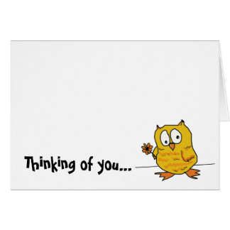hootio, thinking of you card