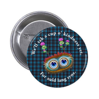 Hoots Toots Haggis. Auld Lang Syne. 6 Cm Round Badge