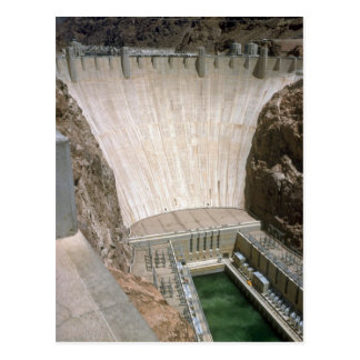 Hoover Dam, lower face, Nevada/Arizona, USA Postcard