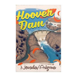 Hoover Dam Nevada/Arizona travel poster Acrylic Print