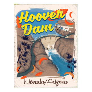 Hoover Dam Nevada/Arizona travel poster Postcard