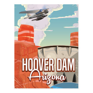 Hoover Dam Nevada Arizona Vintage cartoon Postcard