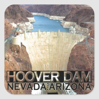 Hoover Dam Square Sticker