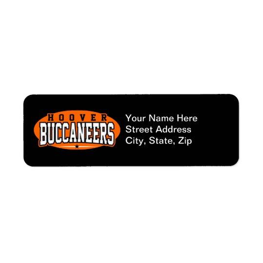 Hoover High School; Buccaneers Return Address Label