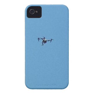 Hoovering Droid Against Blue Sky Simplicity iPhone 4 Cases