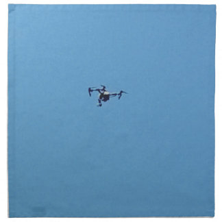 Hoovering Droid Against Blue Sky Simplicity Napkin