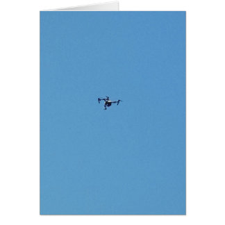 Hoovering Drone Against Blue Sky Simplicity Card