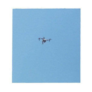 Hoovering Drone Against Blue Sky Simplicity Notepad
