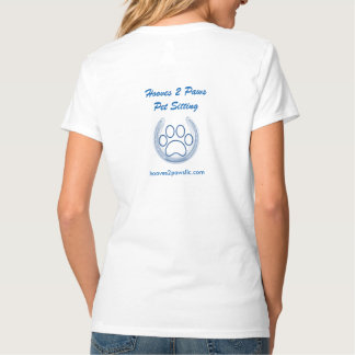 Hooves 2 Paws Pet Sitting V-Neck Tee