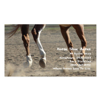 Hooves in Motion Pack Of Standard Business Cards