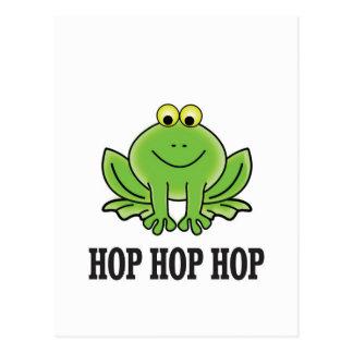 Hop hop hop frog postcard