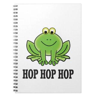 Hop hop hop frog spiral notebook
