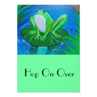 Hop on Over Frog Invites